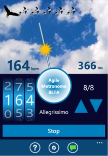 Agile Metronome for Windows Phone App
