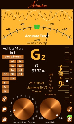 Accurate Tuner Pro for Windows Phone